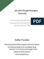 Rancangan dan Pengembangan Formula