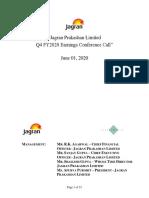 Jagran_Prakashan_Transcript_Q4FY20