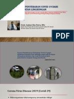 Perspektif Penyebaran Covid dari Sudut Kesling - Webinar 060820