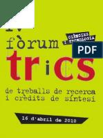 IV Fòrum TRiCS. Publicació
