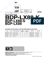 Pioneer Bdp Lx88 k Bdp Lx88 s