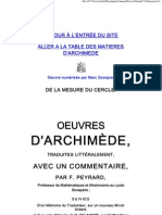 Archimede - De la mesure du cercle