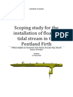 Scoping study for the installation of floating tidal stream in the pentland Firth