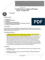 U.S. Navy Office of Naval Intelligence Worldwide Threat to Shipping (WTS) for 30 July - 26 August 2020