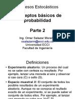 CONCEPTOS BASICOS DE  PROBABILIDAD parte 2