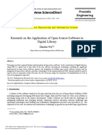 Research on the Application of Open Source Software
