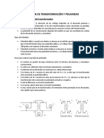 RELACIÓN DE TRANSFORMACIÓN Y POLARIDAD....