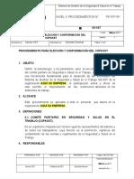 PROCEDIMIENTO PARA ELECCIÓN Y CONFORMACIÓN DEL COPASST