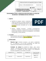 PROCEDIMIENTO PARA LA IDENTIFICACIÓN DE PELIGROS, VALORACIÓN DE RIESGOS Y DETERMINACIÓN DE CONTROLES