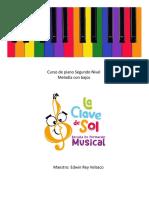 Curso de piano Segundo NIVEL con bajos