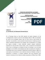 El estudio de los procesos psicosociales - Palacio, Jorge