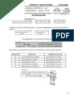 1 POTENCIACIÓN Y RADICACIÓN DE NÚMEROS NATURALES LUNES 24-08-20