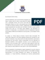 Carta à Universidade - SEM PÀGINA EXTRA