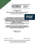 Evaluación estudio impacto ambiental pantano Biscarrués - CEDEX