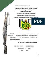 Ramiro Merma Camacho, Cuestionarios Desarrolladoseminario de Tesis II (Elaboracion de Proyecto de Tesis)