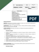 8 - 1° - Guia - Algebra - Diagnostico - 2020