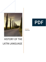 a brief history of the latin language