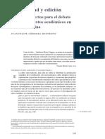 Universidad y edición  JUAN FELIPE CÓRDOBA RESTREPO