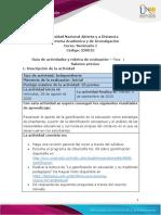 Guia de actividades y Rúbrica de evaluación - Unidad 1 - Fase 1 - Saberes previos