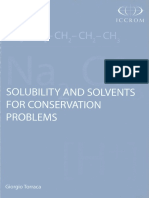 Solubility and solvents for conservation problems