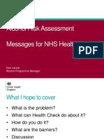 2016 Alcohol risk assessment - NHS Health Check