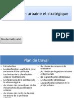 Planification urbaine et stratégique