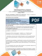 Guia de actividades y rúbrica de evaluación - Tarea 5 Análisis de la aplicación de las teorías de la administración
