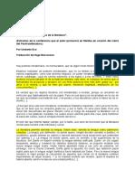 Análisis del texto de Umberto Eco