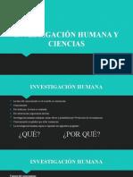 2 Investigación humana y Ciencias