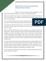 analysis of Michael porter model for pharmaceutical industry