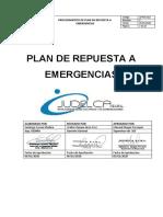 5. Plan de contingencia para cada emergencia