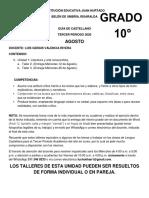 Guía Castellano Grado 10 Agosto