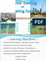 11CMA-Service or Operating Costing