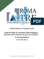 Bocci - contributo della Pedagogia Speciale nell'evoluzione dei processi inclusivi