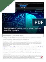 Intelligenza artificiale - 4 modi in cui ogni business dovrebbe sfruttarla