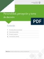 PERSONALIDAD PERCEPCION DE DECISION-Lectura fundamental 3