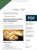 DELICIOSA TARTA DE QUESO Y LECHE CONDENSADA – Hazlo en Casa