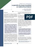 448_La garantía de proporcionalidad en materia fiscal federal