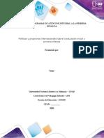 Plantilla de trabajo Paso 2  Programa informativo sobre políticas y programas internacionales en primera infancia