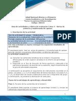 Guía de actividades y rúbrica de evaluación - Unidad 3 - Tarea 4 – Series de potencia y trasformada de Laplace