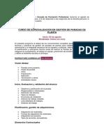 CURSO DE ESPECIALIZACIÓN EN GESTIÓN DE PARADAS DE PLANTA