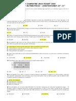 cuestionario olimpiadas de matematicas 10 y 11. 2020....