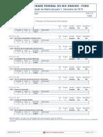 relatorio disciplinas matricular
