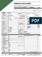 Civil Service Form No. 212 revised  PDS