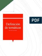 Definición de temáticas