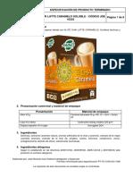 Ficha Técnica té chai Latte Caramelo