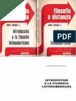 Rodríguez, Eudoro - Introducción a la filosofía latinoamericana. USTA. 1981.