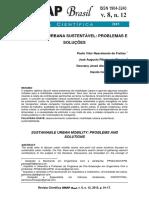 MOBILIDADE URBANA SUSTENTÁVEL- PROBLEMAS E SOLUÇÕES