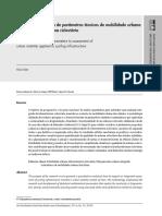 Validação de sistema de parâmetros técnicos de mobilidade urbana aplicados para sistema cicloviário