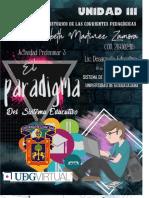 Actividad Preliminar 3 Paradigma Del Sistema Educativo 219302415 Paulina Lizbeth Martinez Zamora